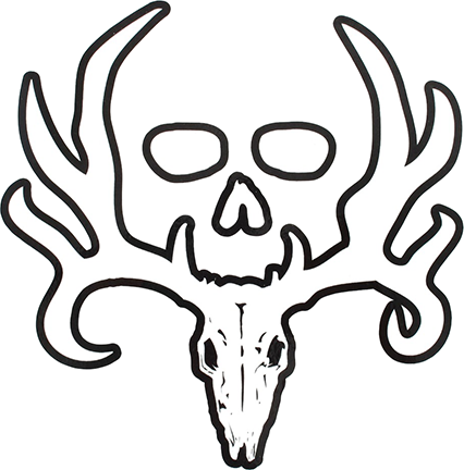 Bone Collector Official White Decal