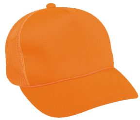 Blaze Orange w/Mesh Back Cap