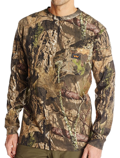 Long Sleeve Pocket Tshirt Mossy Oak Country Large