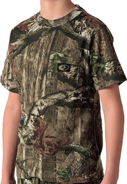 Youth Short Sleeve Pocket Tee Mossy Oak Country Small