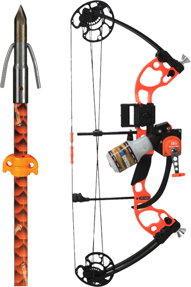 18 AMS Juice Bow Kit w/Orange Accent LH 50# w/Muck Buster