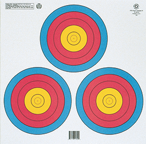 Maple Leaf FITA 3-Spot Target Triangle 100 pk.