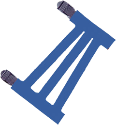 """Youth 5-1/2"""" Ventilated Blue Armguard"""
