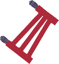 """Youth 5-1/2"""" Ventilated Red Armguard"""
