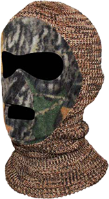 Youth Knit/Fleece Mask Adv. Grey