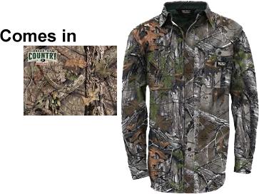 Cape Back Long Sleeve Shirt Mossy Oak Country 2X