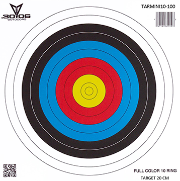 30-06 Mini Paper Targets 10 Ring 100 pk.