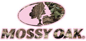 Mossy Oak Camo Logo w/Pink Large 16.5x7.5 Decal