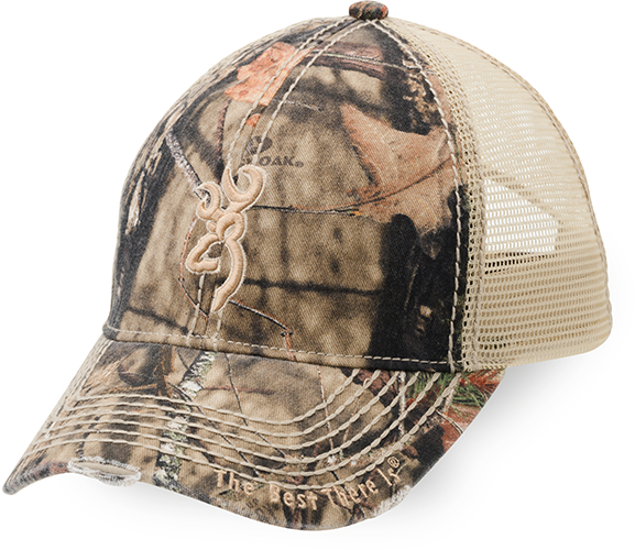 Browning Bozeman Brown Cap w/Mossy Oak Breakup Country