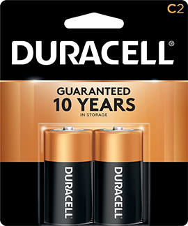 Duracell Coppertop Battery C 2 pk.