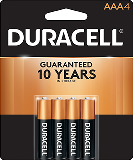 Duracell Coppertop Battery AAA 4 pk.