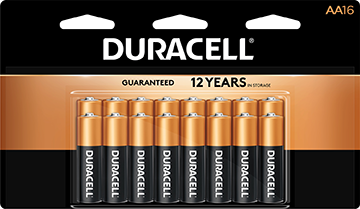 Duracell Coppertop Battery AA 16 pk.