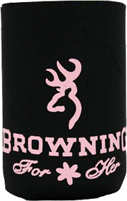 Browning 12oz Black & Pink Can Koozie