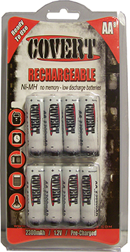 Covert Reghargeable Batteries 12 pk.