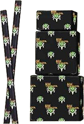 Bone Collector Gift Wrap 22.5 sq ft Black w/Green Logo