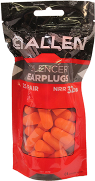 Allen Foam Reuseable Earplugs 25 pr.