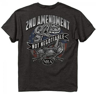 NRA 2nd Amendment Shirt Dark Heather Gray Large