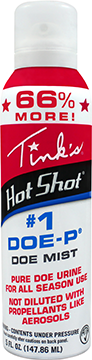 * Tinks Hot Shot #1 DoeP Mist Non Estrous 5 oz.