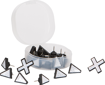 Allen Gear X Marks The Spot Trail Tacks White 20 pk.