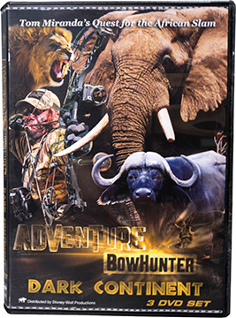 Tom Miranda Adventure Bowhunter Dark Continent Africa DVD Set
