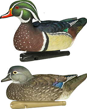 Avian X Top Flight Duck Decoy Wood Duck Floater 6 pk.