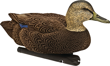 Avian X Top Flight Duck Decoy Flocked Black Duck Foater 6 pk.