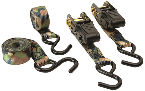 HME Camo Ratchet Tie-Down 2 pk.