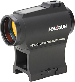 Holosun Micro Red Dot 20mm Solar Dot w/Ring/Turret Guard