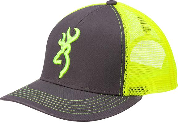 Browning Flashback Neon Cap Charcoal/Neon Green w/Buckmark
