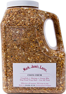 Mark June Coon Chum Raccoon Bait 64 oz.