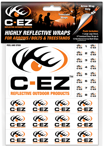 C-EZ Orange Numbered Reflective Arrow and Treestand Wrap