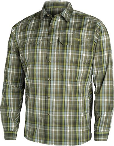 Sitka Globetrotter Shirt Long Sleeve Cargo Plaid Medium