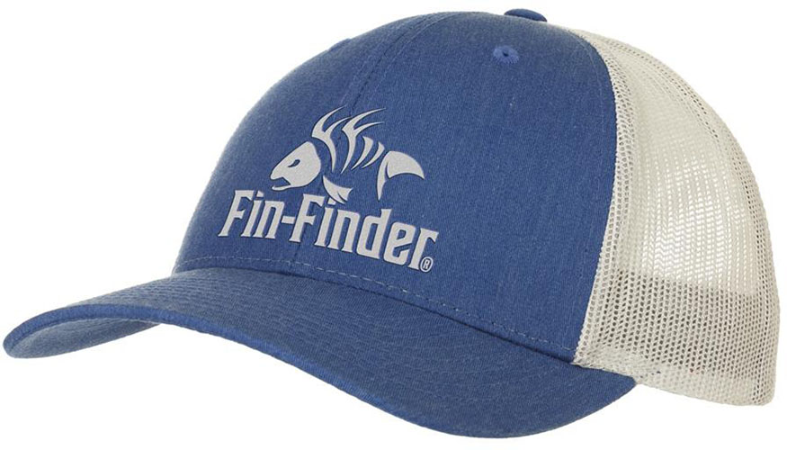Fin Finder Logo Hat Heathered Royal/Light Grey