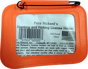 Hunting License Holder Orange