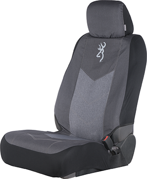 Browning Chevron Low Back Seat Cover Black/Gray