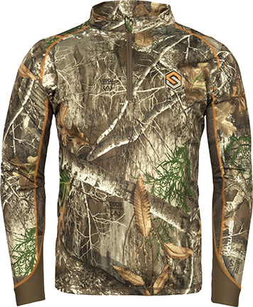 Savanna Attack 1/4 Zip L/S Shirt Realtree Edge Medium