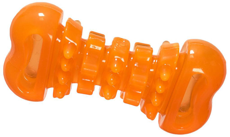 Hero Soft Rubber Dental Bone Hunter Orange