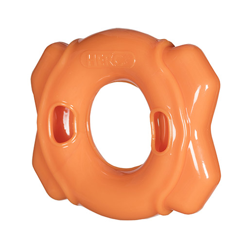 Hero Treat Dispensing Ring Hunter Orange Large