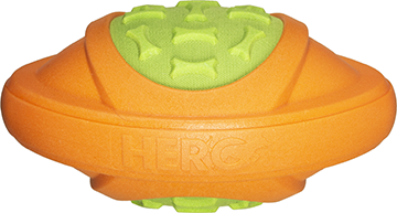 Hero Outer Armor Football Orange/Lime Large