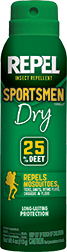 * Repel Insect Repellent Sportsmen Dry 25% DEET 6.5 oz.