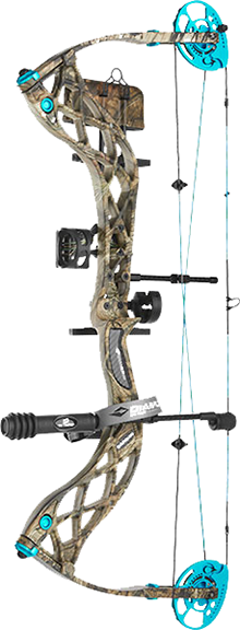 "18 Diamond Carbon Knockout Bow Pkg 22.5-27"" 40# LH BU Country"