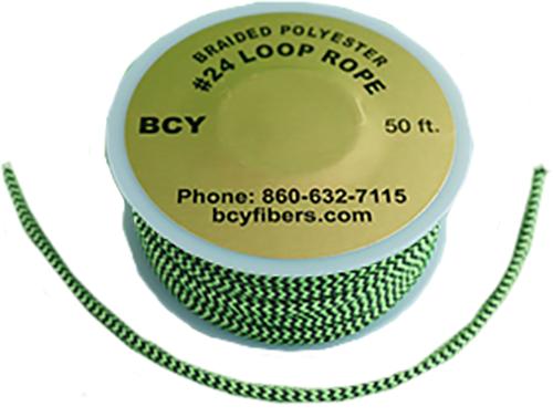 D-Loop Rope #24 1 Meter Flo Green/Black