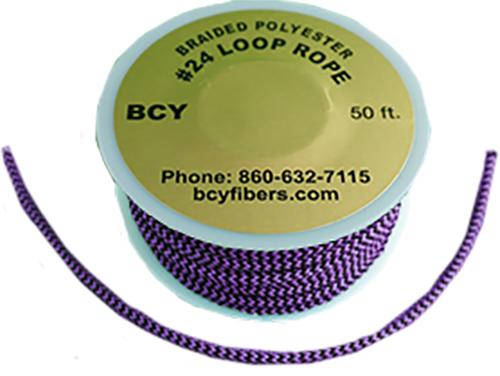 D-Loop Rope #24 1 Meter Flo Purple/Black