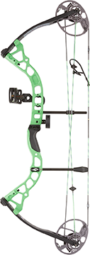 Diamond Atomic Bow Package Neon Green 12-24in. 29lb RH