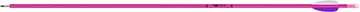 "Fiberglass Youth Pink 29""Arrows w/Vanes"