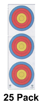 4-Color Fita Official 3-Spot Vertical Target/Wht Background