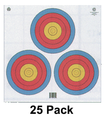 4-Color Fita Official 3-Spot Target (White Background)