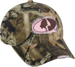 Ladies Mossy Oak Breakup Infinity Frayed Hat