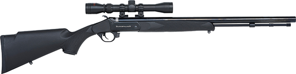 Buckstalker 50c Synthetic Black Blue Barrel w/3-9x40 Scope Mnt