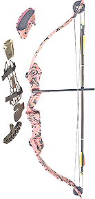 SA Sports Majestic Youth Bow Pkg. Pink Camouflage 20 lbs RH